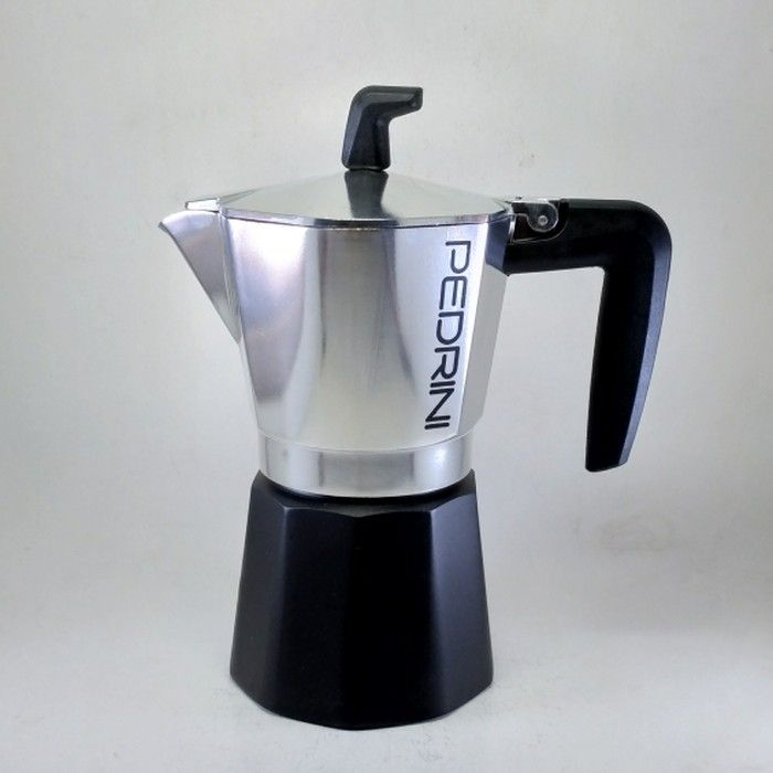 Pedrini Sei Moka Elite Moka Pot Coffee Maker for 6 Cups