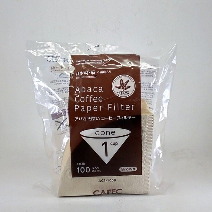 Saringan Kopi CAFEC Abaca Coffee Paper Filter Brown 1 Cup AC1-100B
