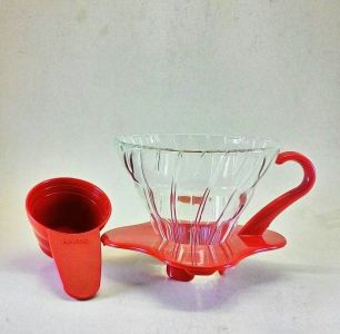 Hario V60 Glass Coffee Dripper 01 Red VDG-01R