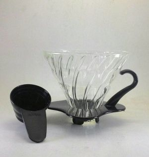 Hario V60 Glass Coffee Dripper 02 Black VDG-02B