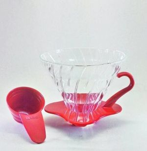 Hario V60 Glass Coffee Dripper 02 Red VDG-02R