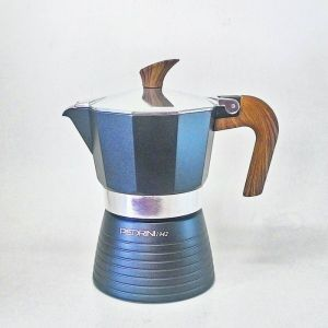 Pedrini Celebration Wood Effect Moka Pot Coffee Maker for 3 Cups
