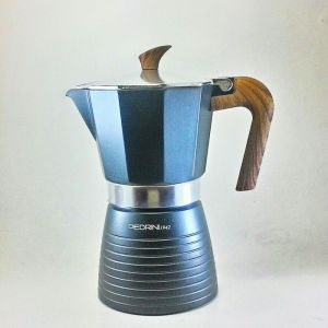 Pedrini Celebration Wood Effect Moka Pot Coffee Maker for 6 Cups