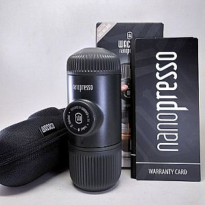 Wacaco Nanopresso Handy Portable Manual Espresso Maker with Hard Case